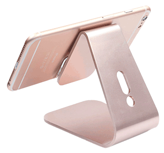 aluminium iphone stand rose gold